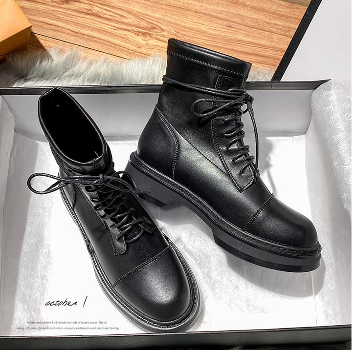 Flat bottomed Martin boots womens fall / winter 2020 new versatile British 32-43 locomotive lace up short boots