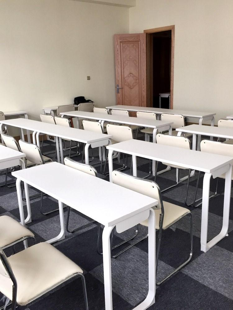 教育机构学生组合员工活动桌椅双人课员工组合桌长条桌培训会议桌