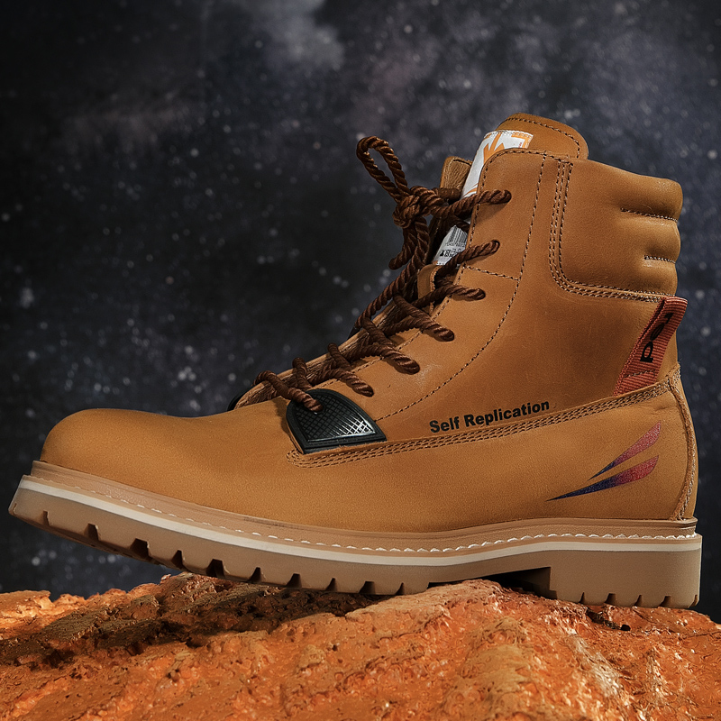 [designer cooperation] Red Dragonfly work boots fashion trend rhubarb boots fashion mens Martin boots leather outdoor