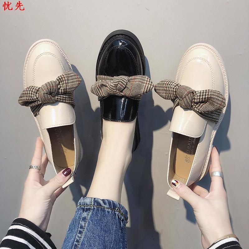 豆豆鞋女2019春款韩版网红女鞋子潮鞋仙女风女生流行单鞋ins皮鞋