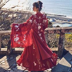 十三余小豆蔻儿[牡丹国色]重工刺绣大袖衫婚服外套汉服女