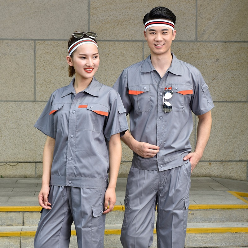 Hotel work clothes labor protection short sleeve property uniform clothes semi electrician customized maintenance engineering department summer suit