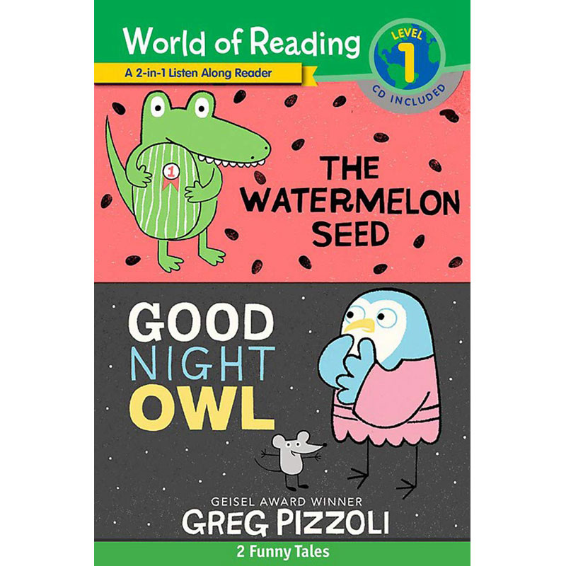 阅读世界1 英文原版 World of Reading Watermelon Seed, The and Good Night Owl 2-in-1 Liste 3-6岁