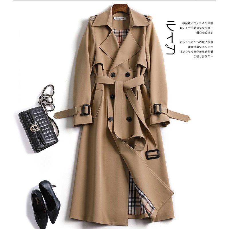 风衣女中长款2020秋冬新款韩版小个子流行英伦风过膝大衣秋冬外套