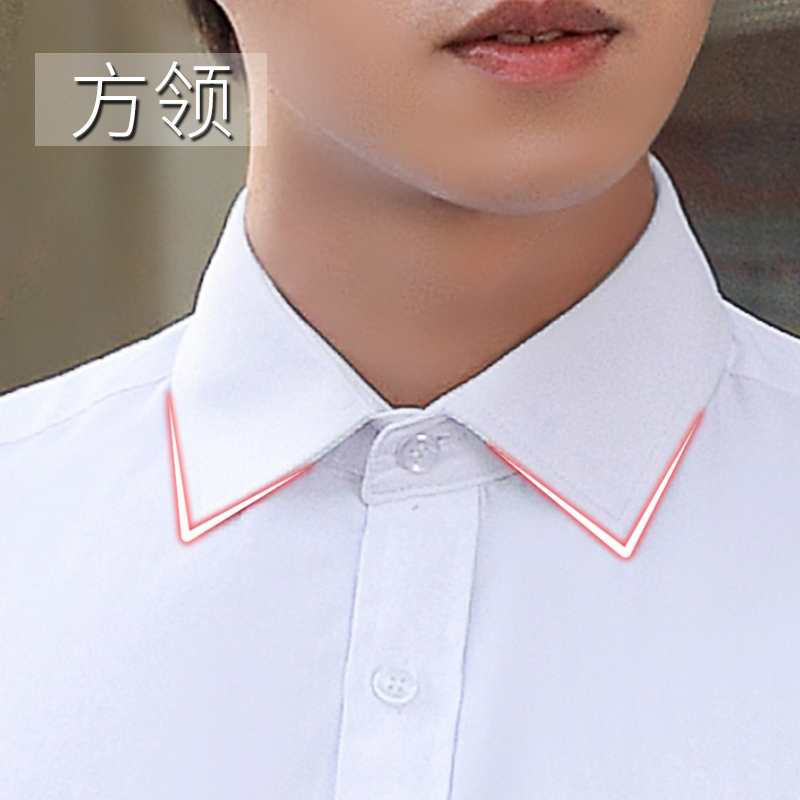 Spring summer white shirt mens long sleeve Korean work clothes black professional short sleeve shirt inch business dress half sleeve
