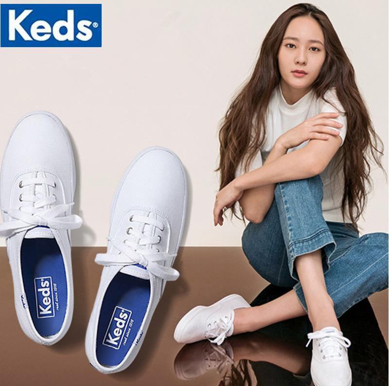 新款keds小白鞋厚底增高郑秀晶同款学生低帮休闲帆布鞋女鞋泰勒鞋