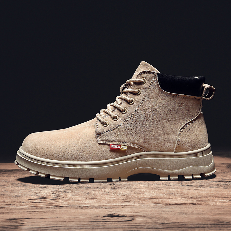 Decaway winter Martin boots mens shoes inner height shoes mens boots outdoor work wear boots British casual versatile leather boots
