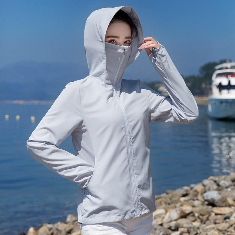 夏季防晒防晒衣女薄款短户外皮肤风衣防紫外线透气运动超防晒衫服