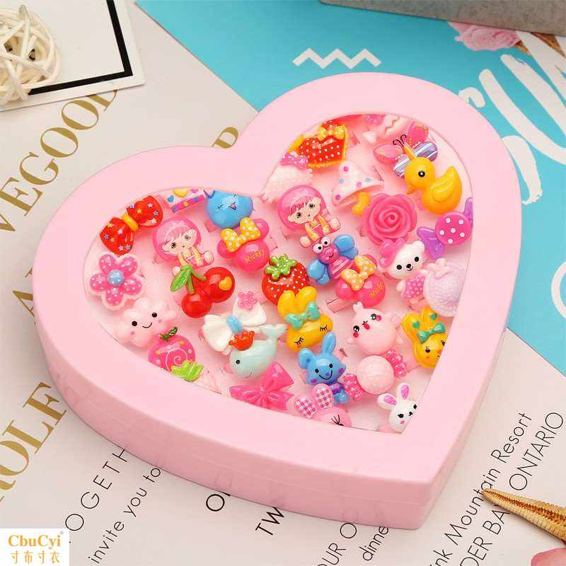 Middle and large childrens hair circle cute childrens toy ring girl plastic hair ornament heart-shaped girl.