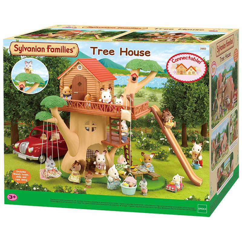Happy set house Japanese forest tree Gift Girl family big house villa toy