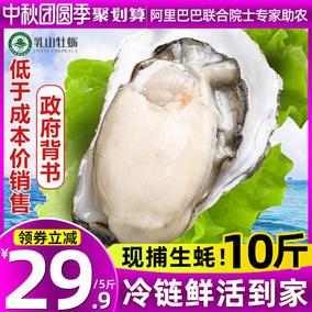 乳山鲜活5斤新鲜海蛎子特大10生蚝