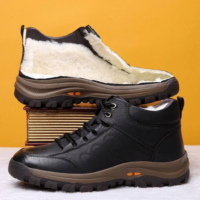 Cotton shoes mens shoes 2020 new winter Plush warm shoes snow boots sports leisure mountaineering shoes mens fashion shoes