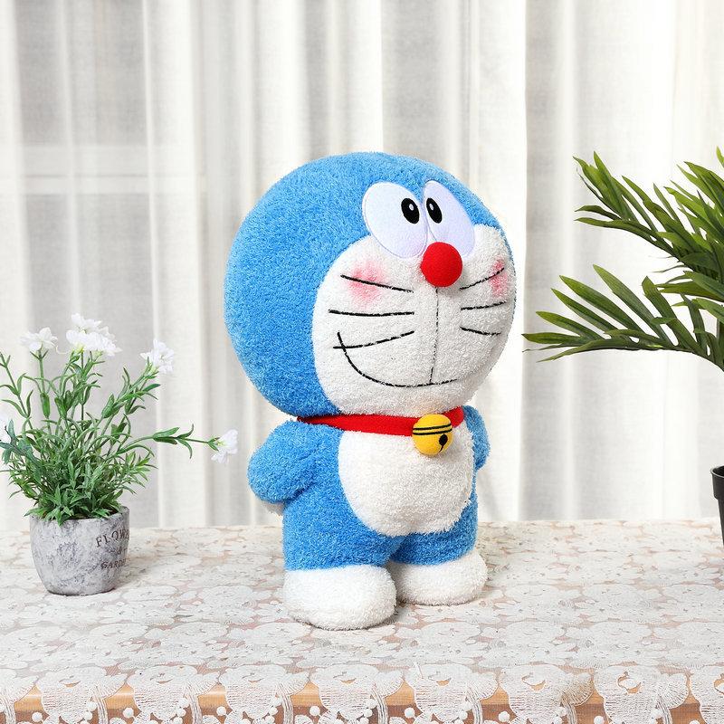 日本哆啦a梦公仔叮当猫机器猫蓝胖子毛绒玩具布娃娃定制