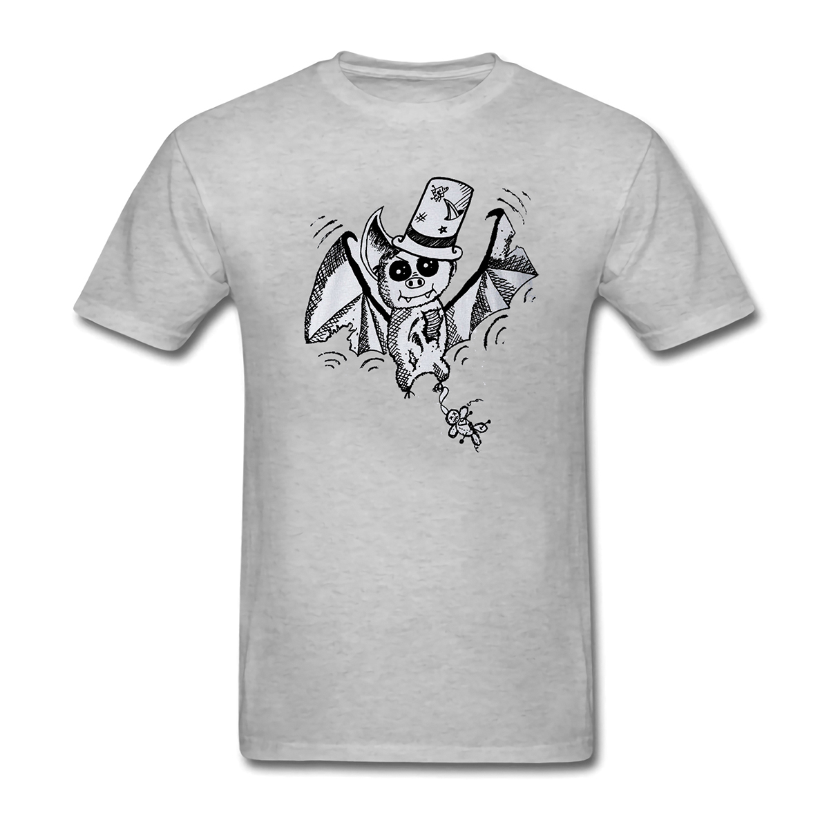 Zombie bat fashion Halloween Vampire weird Gothic mens and womens Short Sleeve T-Shirt