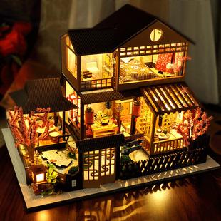 音乐盒八音盒木质天空之城房子diy生日礼物女生情人节送老婆惊喜