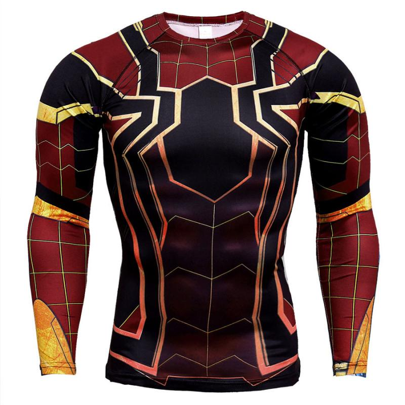 Summer long sleeve quick dry tight fitting clothes unlimited war fitness top manway long sleeve T-shirt man