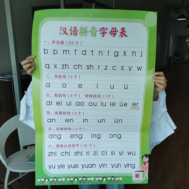 语文汉语拼音字母表墙贴声母韵母墙贴前鼻音后鼻音海报挂图