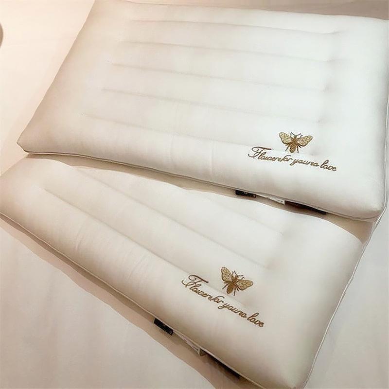 超薄矮一对家用低枕头超柔平软枕芯好不好用