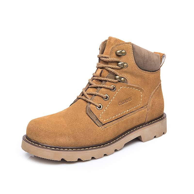 Suede mens shoes medium top Martin boots short boots tooling boots low top rhubarb boots desert boots anti leather frosted shoes