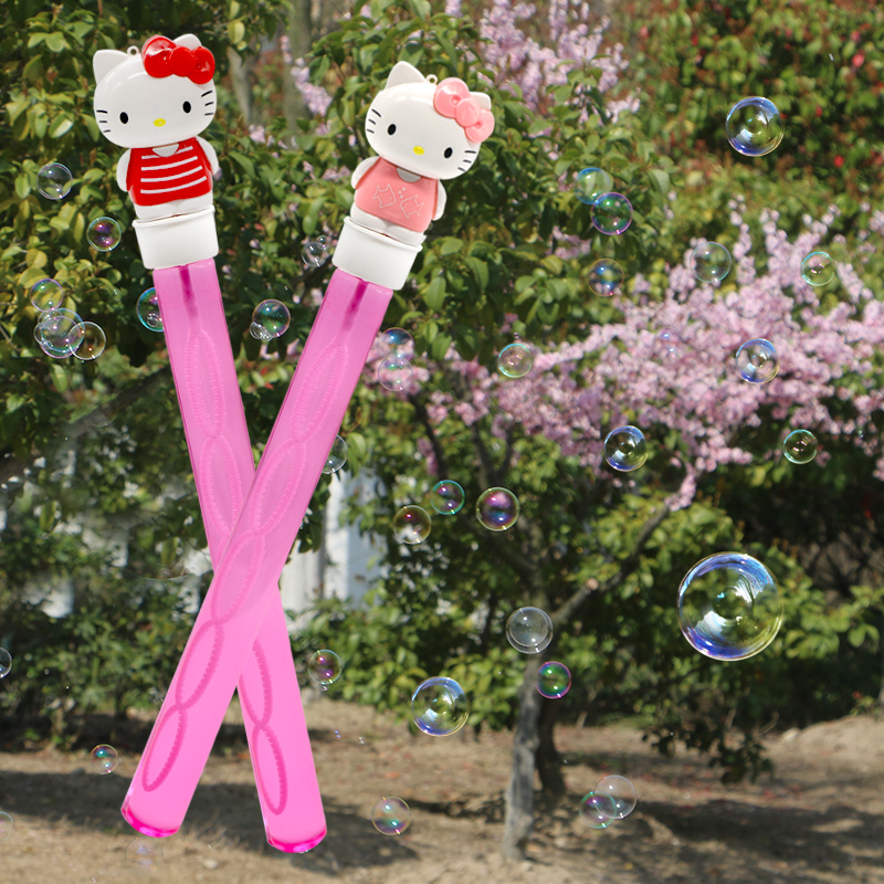 Hello Kitty Kitty bubble stick childrens bubble blowing girls toys outdoor net red bubble toys