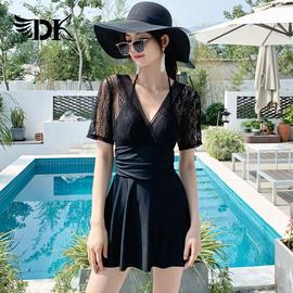 DK温泉泳衣女2020新款性感小胸聚拢保守遮肚显瘦韩国仙女范游泳装