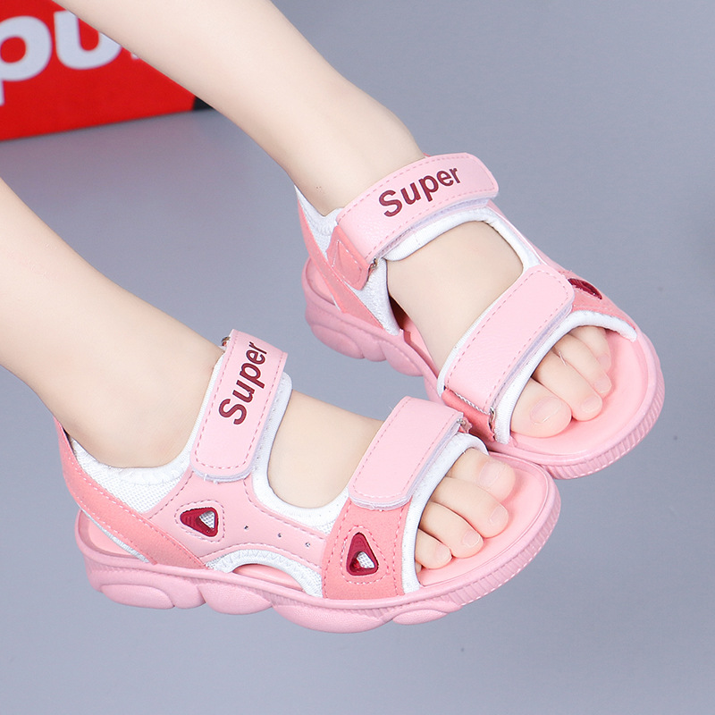 (用9.75元券)2到12岁11女孩子十凉鞋9小孩穿的8男童鞋7夏天6沙滩鞋5运动4儿童3