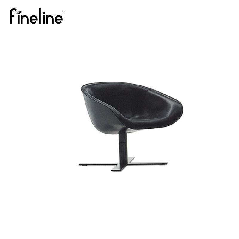 Finelineデザイナー家具mart chair/マットチェア金属脚本革屋外レジャーチェア