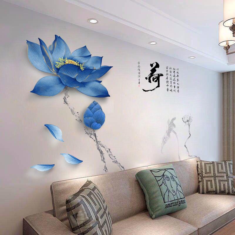 客厅3D立体墙贴画卧室电视背景墙壁纸墙上房间装饰品贴纸自粘墙纸
