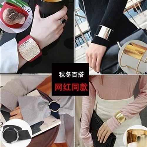 Sichuan Chengdu wanghong same style exaggerated retro Bracelet wide fashion handdress womens Korean personalized opening Bracelet Cuff