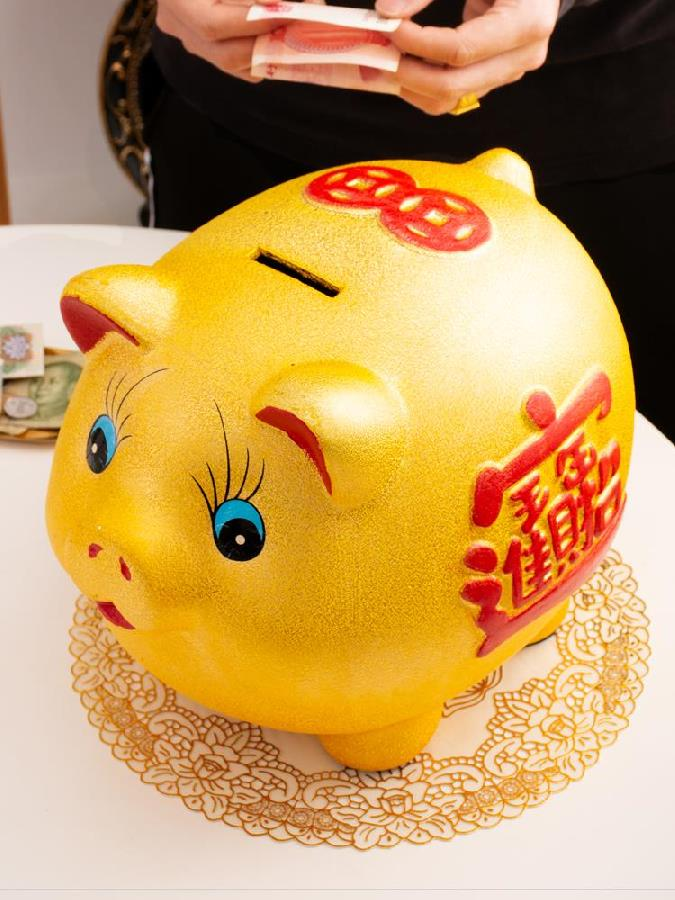 Piggy bank, piggy bank, girl porcelain dormitory, little girl, boy, family in and out of the Chinese Zodiac