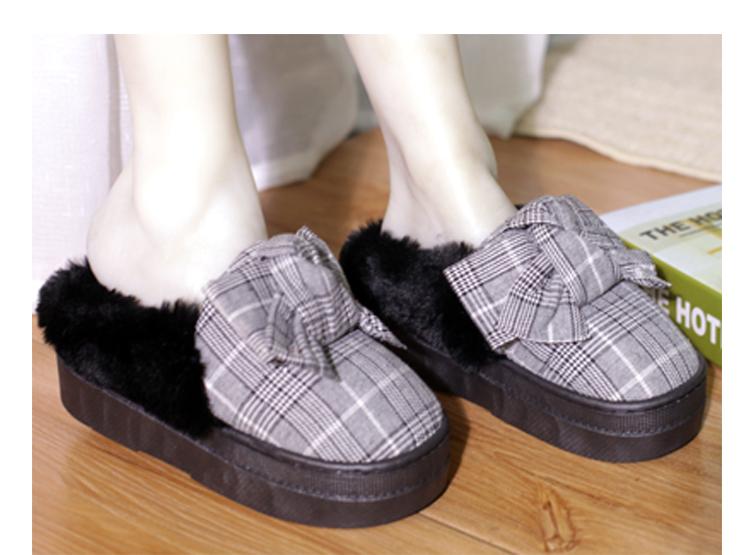 女高跟拖鞋软底半包跟保暖棉鞋高厚底松糕跟防水台防滑居家棉