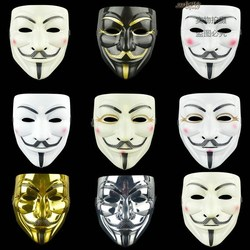 Movie Cosplay V for Vendetta Hacker Mask Anonymous Guy Fawke