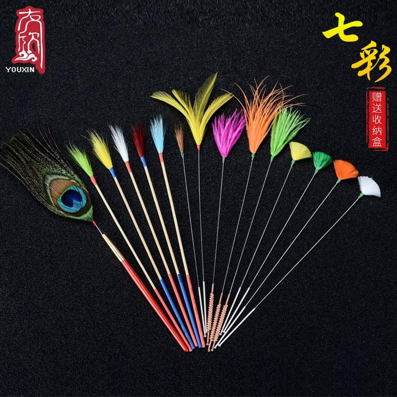 Ear picking tools household silver needle goose hair stick ear stick crane hair stick ear scoop scratch chicken hair suit ear digging ear sweeping stick