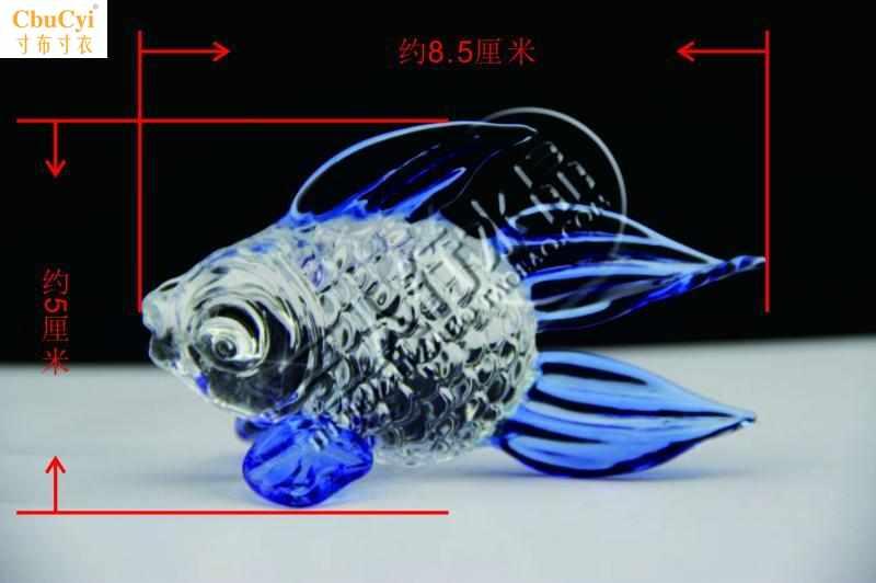 水晶鱼摆件手机柜台装饰品眼镜珠柜台装饰礼品摆件摄影装饰道具