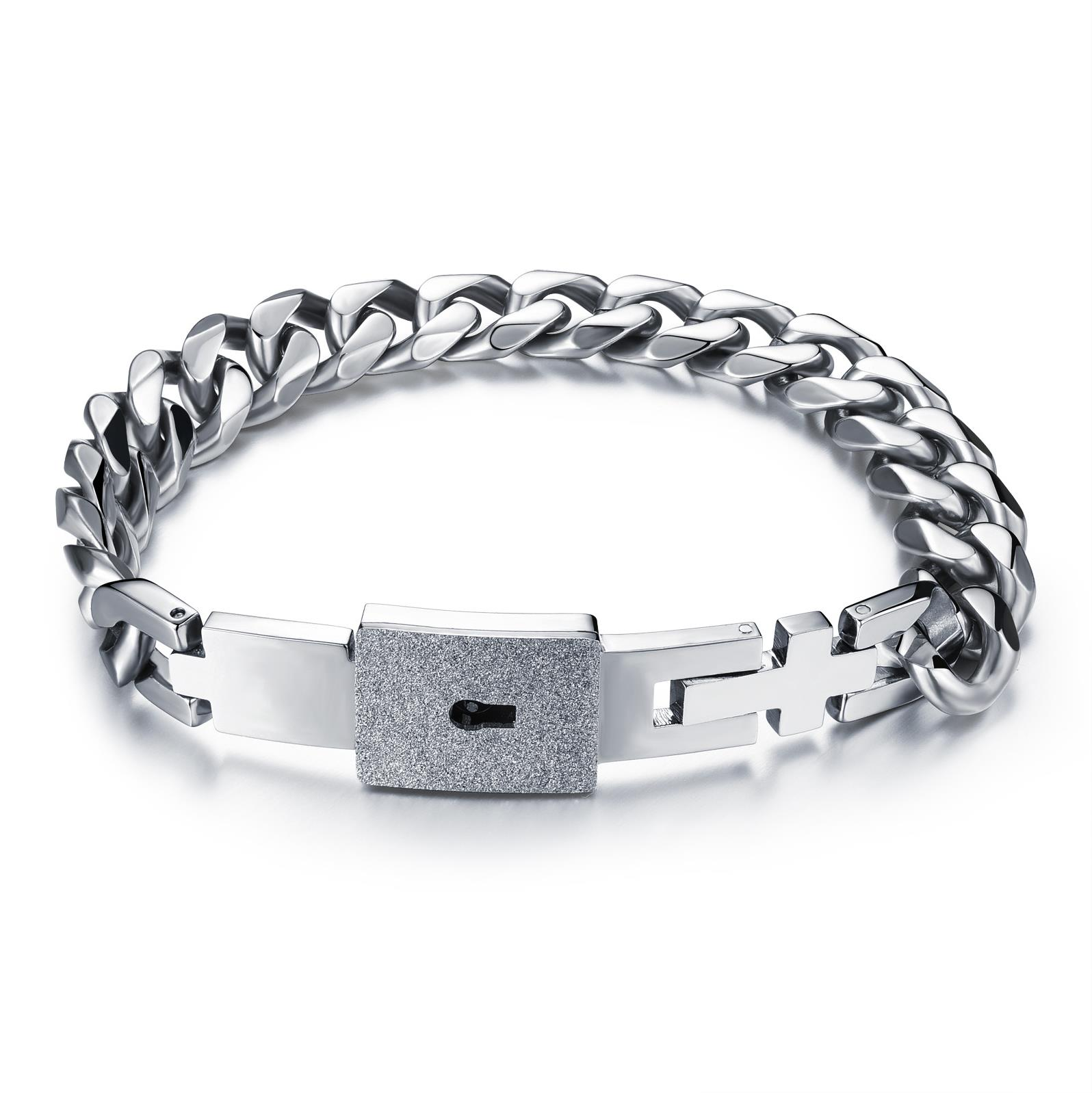 Concentric lock lovers bracelet necklace love key titanium steel pendant with diamond eternal ring female lock male gtz001