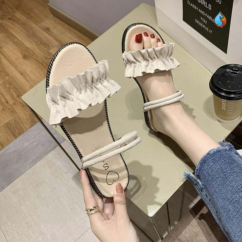 女士凉拖鞋2020年新款夏季凉鞋凉拖女简单露趾夏款平底透气