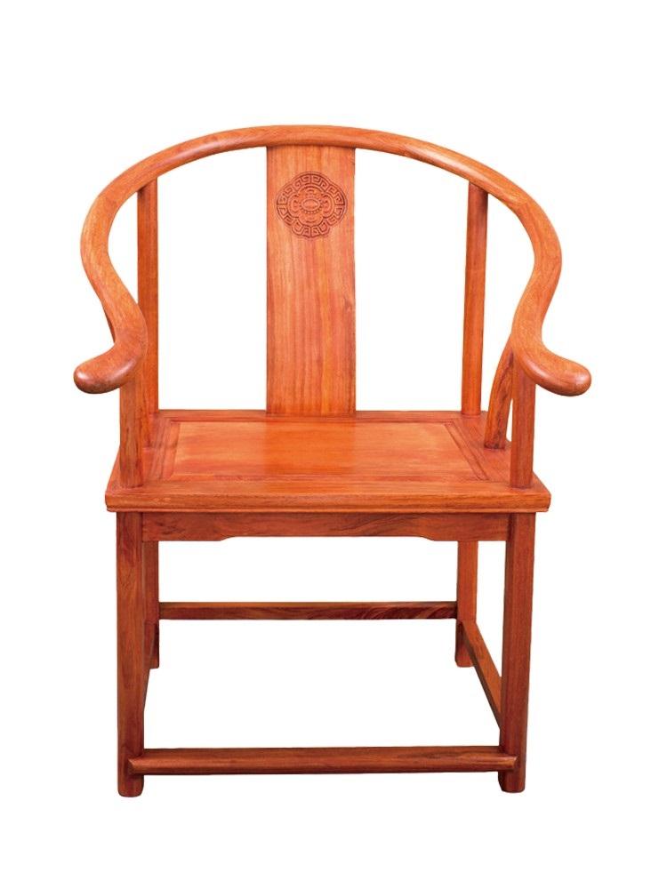 老板椅木质 实木实木奥坎巴花乌金木胡桃木餐圈椅官帽靠背椅茶桌