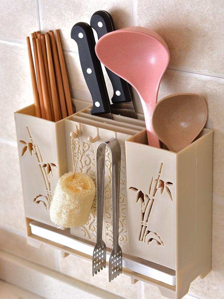 抖音居家居厨房用品用具创意小百货家用大全壁挂式筷子笼收纳神器