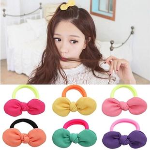 儿童发饰品韩国兔耳朵可爱发圈头花女童宝宝头饰橡皮筋小女孩头绳品牌