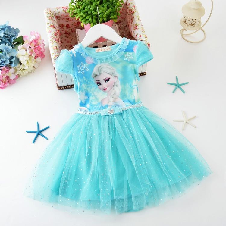2019新款冰雪奇缘公主裙儿童裙子满122.85元可用71.25元优惠券