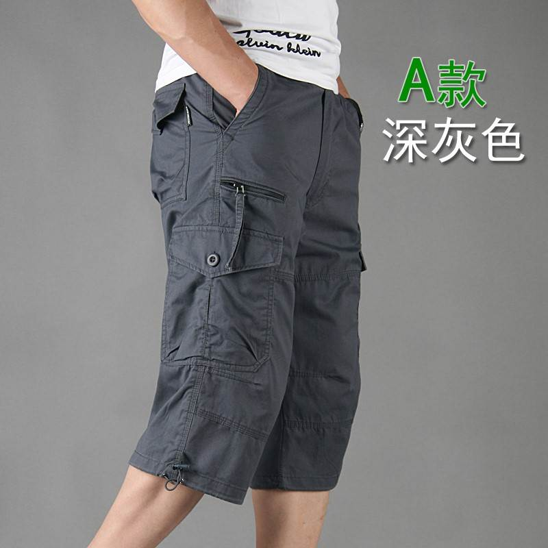 New Capris mens loose thin mens pants Multi Pocket outdoor sports casual overalls mens shorts fashion