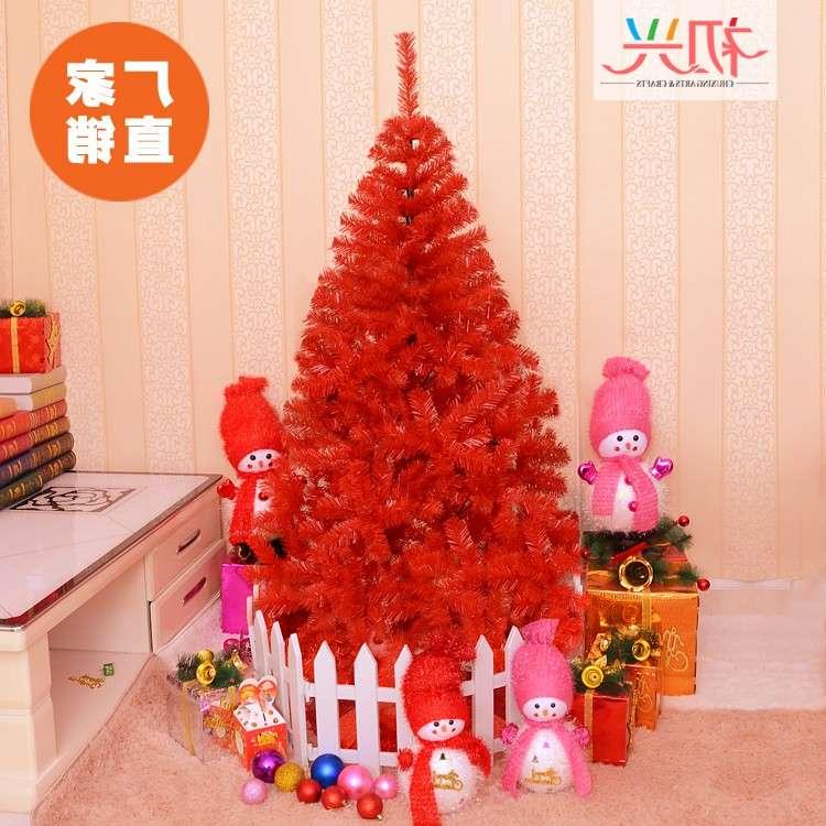 小商品1.8米加密豪华大型大红色圣诞树套餐1.5米/2.4米/3米