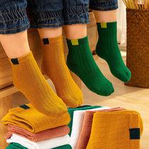 16岁儿童袜子棉袜春秋冬加厚加绒款男童女童男孩中筒宝宝袜0