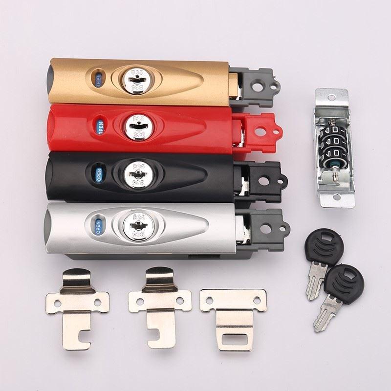 拉桿箱鎖配件 扣鎖 b35鎖扣行李箱搭扣密碼鎖皮箱側面鎖鋁框維修