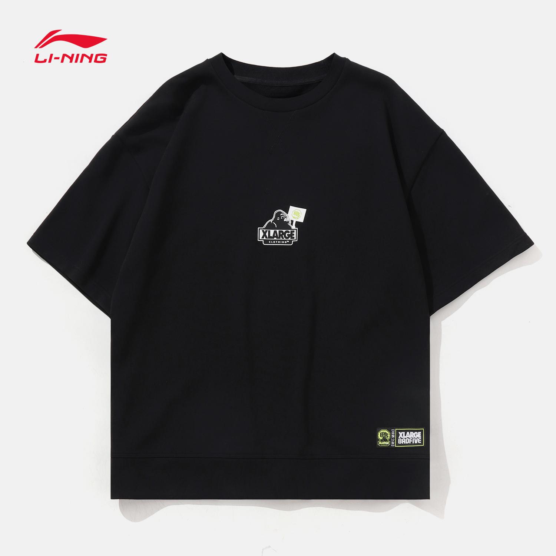 李宁BAD FIVE&XLARGE破旧立新系列男士短袖2019新款宽松夏季T恤