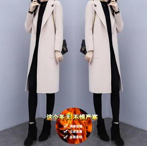 保暖冬季加厚韩版毛呢大衣女中长款流行显瘦呢子潮流时尚女装外套