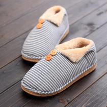 棉拖鞋女冬季情侣家用防水皮质保暖居家防滑室内厚底男士
