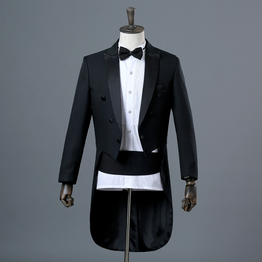 New mens dress tuxedo magic show conductor costume bel canto show Jazz suit Dance New