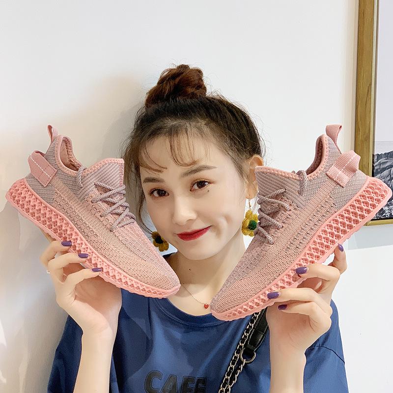 夏秋新款韓版百搭運動鞋女學生跑步休閑鞋女鞋子2019蛇紋椰子鞋女