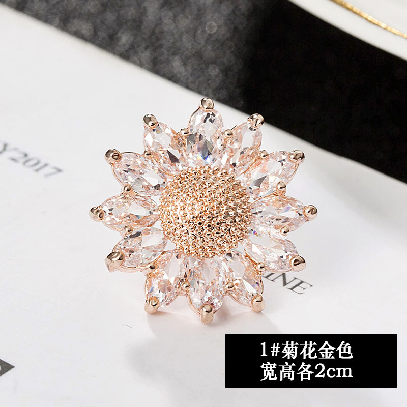 High grade brooch, luxurious and lovely accessories for women, sweater accessories, crystal pin, fixed clothes, Japanese accessories